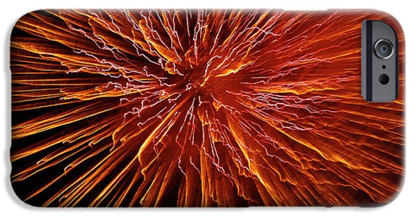 Pyrotechnics iPhone Cases - Fire In The Sky iPhone Case by Carolyn Marshall
