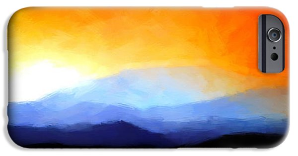 Strange iPhone Cases - Fire in the Sky iPhone Case by Christopher Wieck