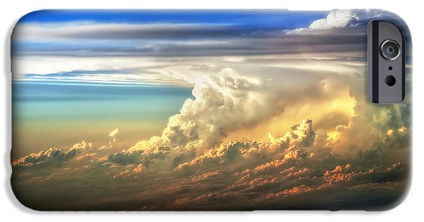 Storm iPhone Cases - Fire in the Sky from 35000 Feet iPhone Case by Scott Norris