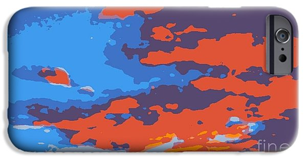Etc. Digital Art iPhone Cases - Fire in the Sky iPhone Case by James Eye