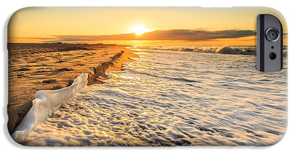 High Park Fire iPhone Cases - Fire Island Dawn iPhone Case by Sean  Mills