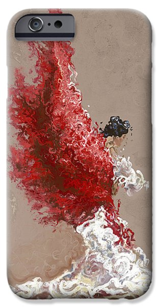 Flames Paintings iPhone Cases - Fire iPhone Case by Karina Llergo Salto