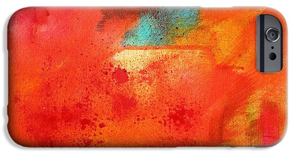 Escape Paintings iPhone Cases - Fire Light iPhone Case by Nancy Merkle