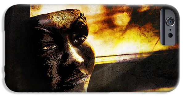 Ledge iPhone Cases - Fire Mask iPhone Case by Scott Norris