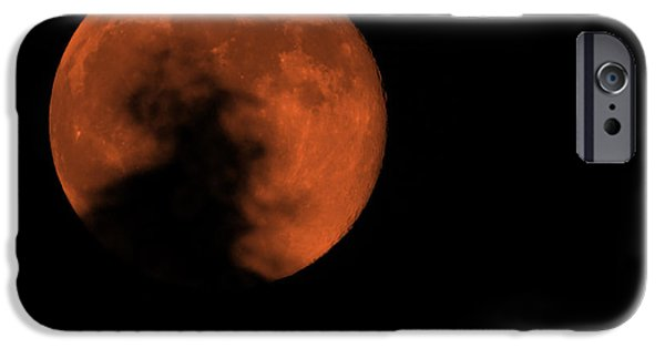 Super Moon iPhone Cases - Fire Moon 2013 iPhone Case by Ernie Echols