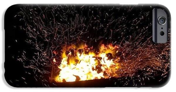 Iraq Pyrography iPhone Cases - Fire oh fire iPhone Case by Mustafa Amer