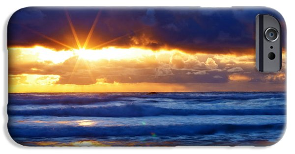 Oregon Coast iPhone Cases - Fire on the Horizon iPhone Case by Darren  White