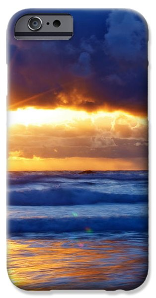 Fire on the Horizon iPhone Case by Darren  White