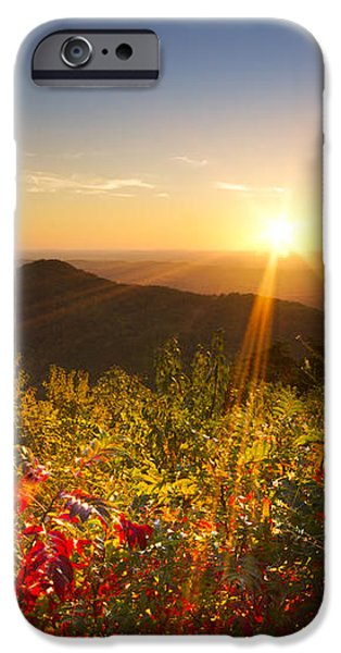 Fire on the Mountain iPhone Case by Debra and Dave Vanderlaan