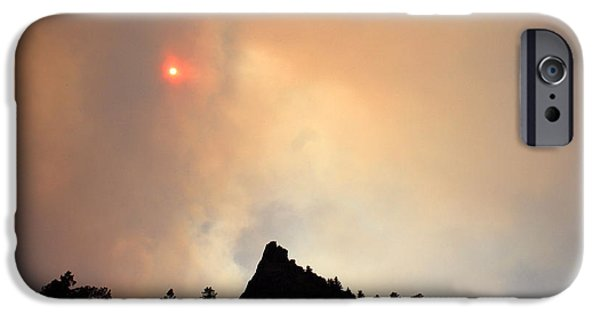 High Park Fire iPhone Cases - Fire on the Mountain iPhone Case by Emily Clingman
