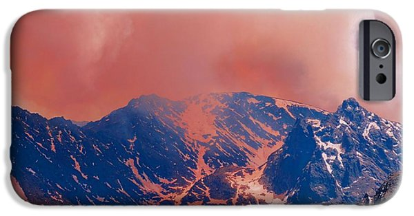 Wildfire iPhone Cases - Fire On The Rocky Mountains iPhone Case by Dan Sproul