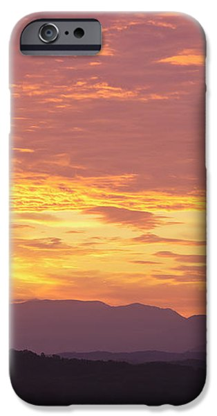 Fire Sunset over Smoky Mountains iPhone Case by Kay Pickens