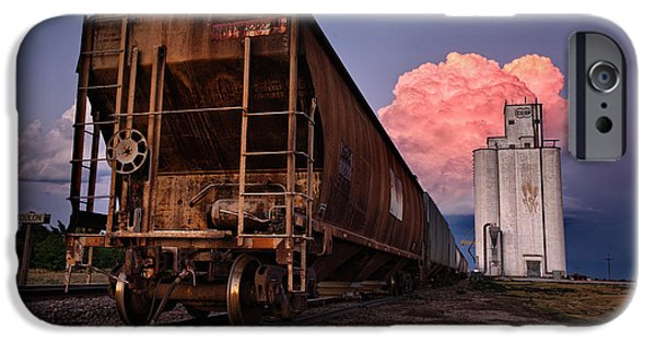 Nebraska iPhone Cases - Fire Train iPhone Case by Thomas Zimmerman