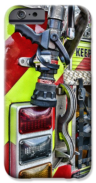 Paul Pierce iPhone Cases - Fire Truck - Keep Back 300 Feet iPhone Case by Paul Ward