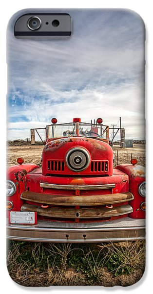 Old Truck iPhone Cases - Fire Truck iPhone Case by Peter Tellone