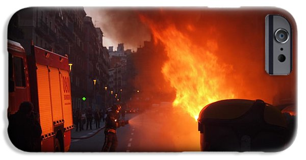 Disorder iPhone Cases - Fire iPhone Case by Victoria Herrera