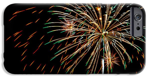 4th July iPhone Cases - Fire works 1 iPhone Case by Paul Freidlund