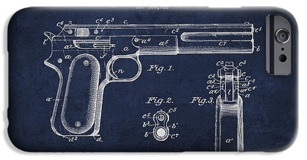 Weapon iPhone Cases - Firearm Patent Drawing from 1897 iPhone Case by Aged Pixel
