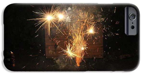 4th Of July iPhone Cases - FireCRACK iPhone Case by Dune Stewart