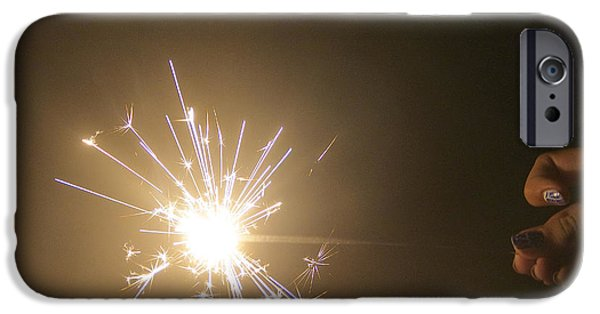 Fourth Of July iPhone Cases - Firecracker iPhone Case by Michelle Holland