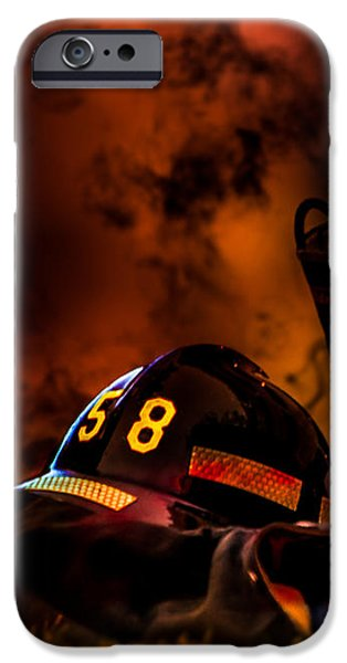 Firefighter iPhone Case by Bob Orsillo