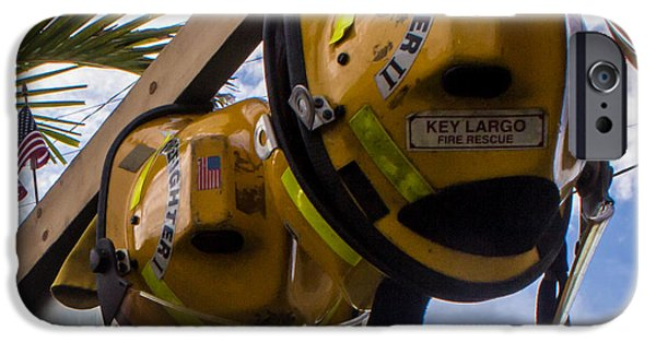 Prescott iPhone Cases - Firefighters We Salute You iPhone Case by Rene Triay Photography