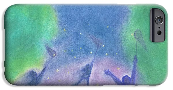 For Children Pastels iPhone Cases - Fireflies by jrr iPhone Case by First Star Art