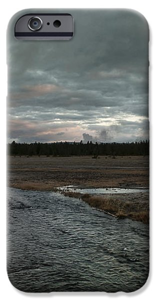 Firehole Lake Drive Sunrise - Yellowstone NP iPhone Case by Sandra Bronstein