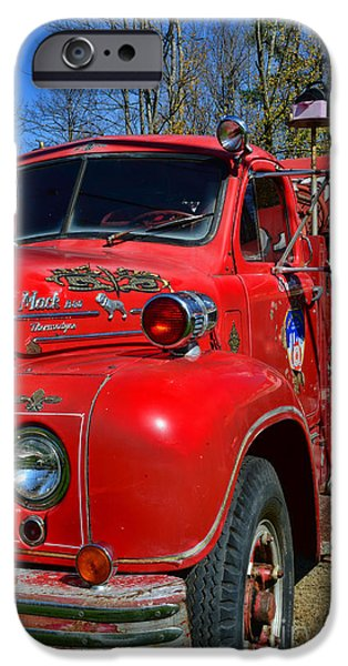 Paul Pierce iPhone Cases - Fireman - A Very Old Fire Truck iPhone Case by Paul Ward