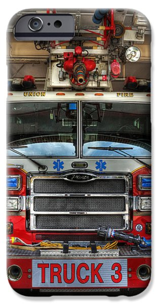 Empire State iPhone Cases - Fireman - Fire Engine iPhone Case by Lee Dos Santos