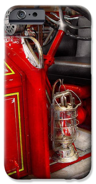 Fireman - Fire Engine No 3 iPhone Case by Mike Savad