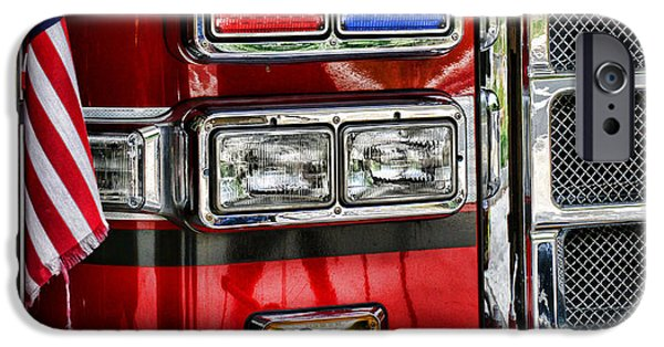 Paul Pierce iPhone Cases - Fireman - Fire Engine iPhone Case by Paul Ward