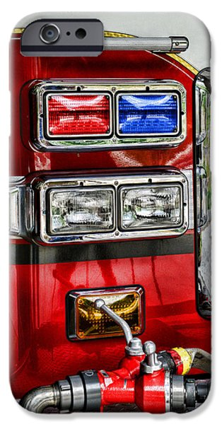 Fireman - Fire Engine iPhone Case by Paul Ward