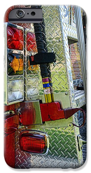 Fireman keep back 300 feet iPhone Case by Paul Ward