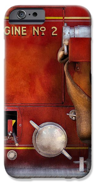 Fireman - Old Fashioned Controls iPhone Case by Mike Savad