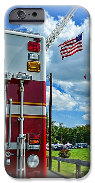 Paul Pierce iPhone Cases - Fireman - Proudly They Serve iPhone Case by Paul Ward
