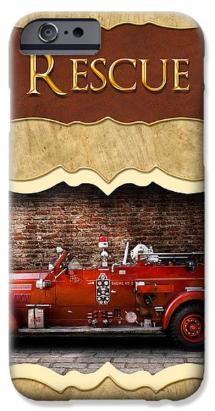 Fireman - Rescue - Police iPhone Case by Mike Savad