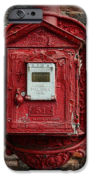 Paul Ward iPhone Cases - Fireman - The Fire Alarm Box iPhone Case by Paul Ward