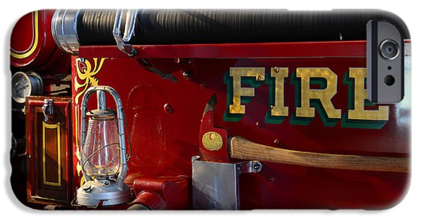 Axes iPhone Cases - Fireman - The Fire Axe iPhone Case by Paul Ward