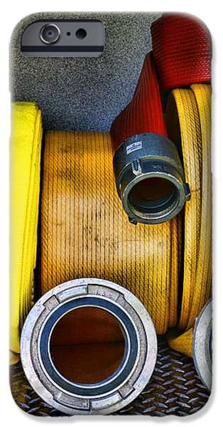 Fireman - The Fire Hose iPhone Case by Paul Ward