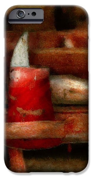 Fireman - The Fireman's Axe iPhone Case by Mike Savad