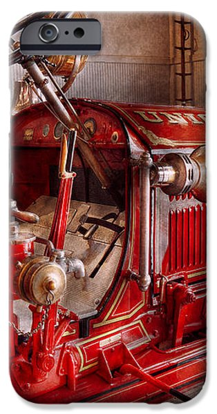 Fireman - Truck - Waiting for a call iPhone Case by Mike Savad