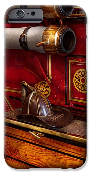Work Tool iPhone Cases - Firemen - An elegant job  iPhone Case by Mike Savad