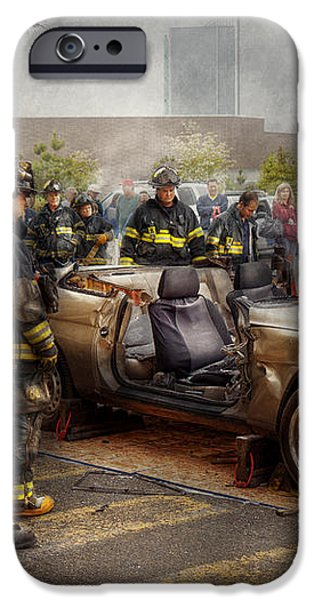 Firemen - The fire demonstration iPhone Case by Mike Savad