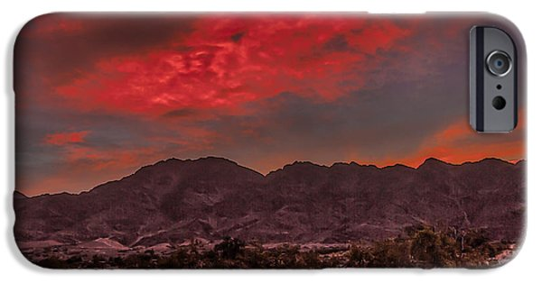 Haybale iPhone Cases - Firery Red Sunrise iPhone Case by Robert Bales