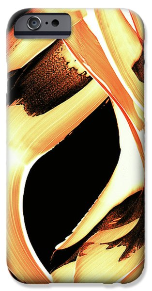 FireWater 1 - Buy Orange Fire Art Prints iPhone Case by Sharon Cummings