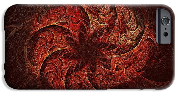 Fireworks iPhone Cases - Fire Wheel of Adranos iPhone Case by Doug Morgan