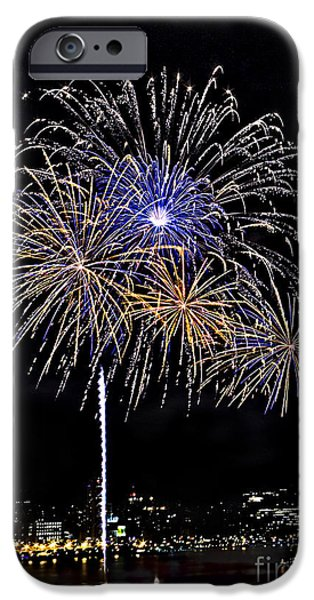 Independance Day iPhone Cases - Firewoks iPhone Case by Susan Candelario