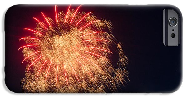 4th July Pyrography iPhone Cases - Firework 4 iPhone Case by David Nace