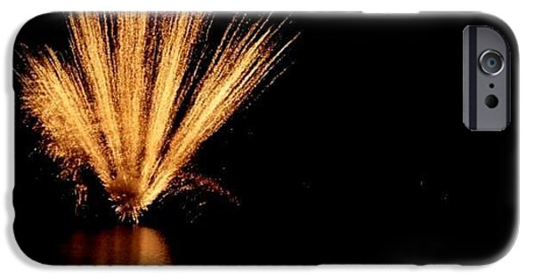 Fireworks Pyrography iPhone Cases - Firework iPhone Case by Anabela  Domingos
